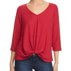 Status by Chenault | Magenta Front Twist Blouse